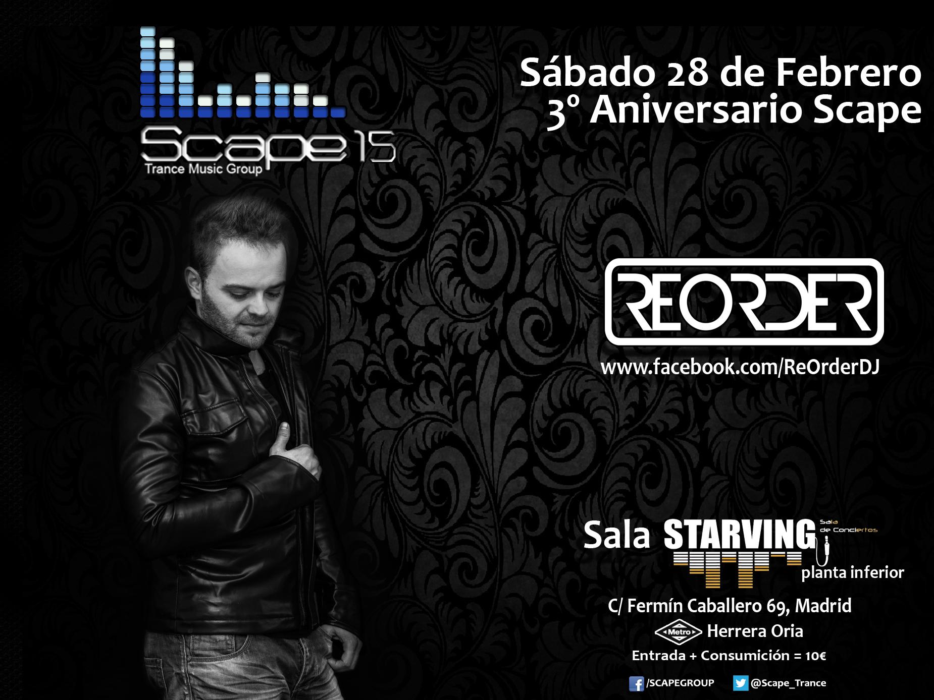 28 de febrero: ReOrder visitará Madrid en el tercer aniversario del colectivo Scape