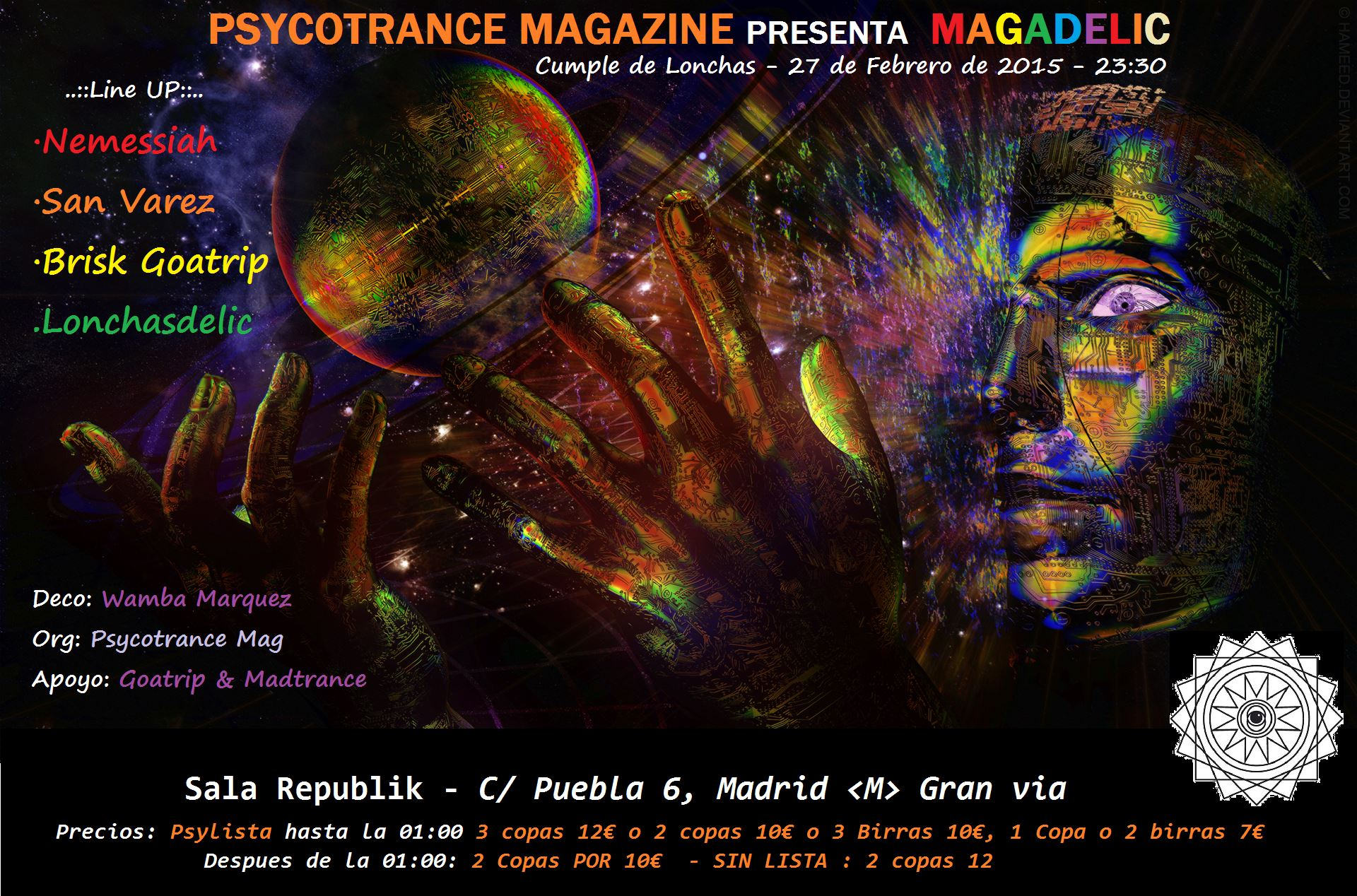 2º Psycotrance Night: Psytrance y Goa en pleno centro de Madrid
