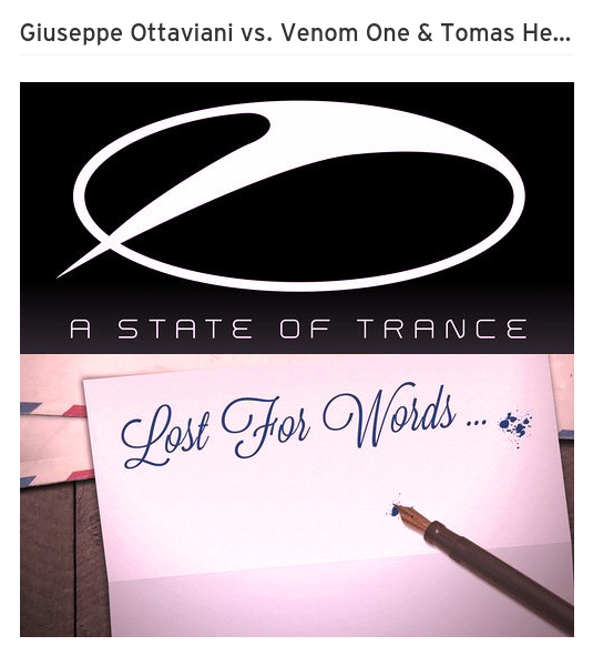 Giuseppe Ottaviani vs. Venom One & Tomas Heredia - Lost For Words And Moments (Joe Napoli Mashup)