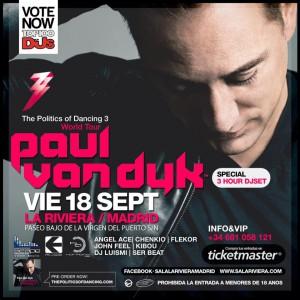 """Paul van Dyk pasa por Madrid el 18 de septiembre presentando """"The Politics of Dancing Vol.3"""""""
