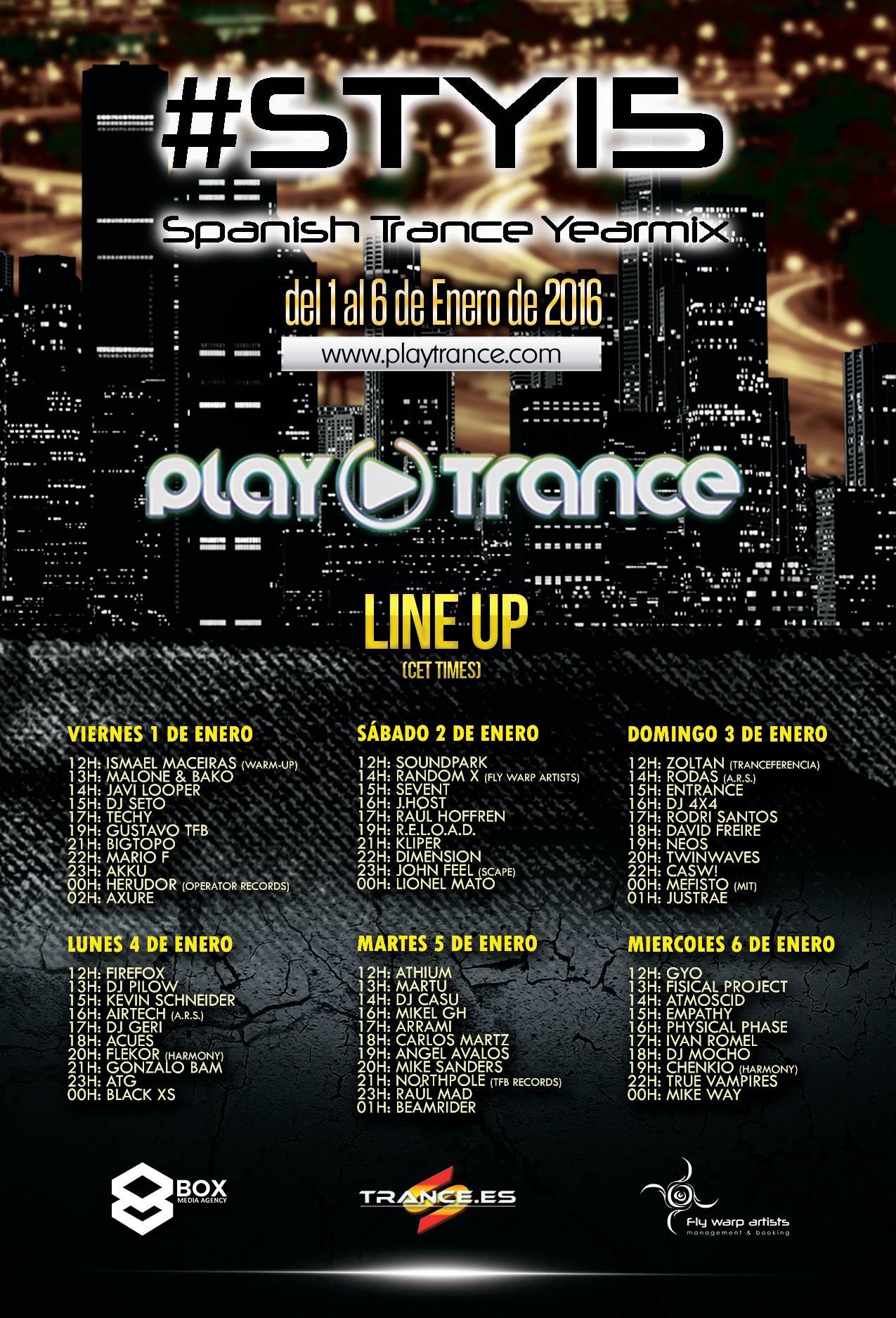 """PlayTrance presenta la edición 2015 de """"Spanish Trance Yearmix"""" #STY15"""