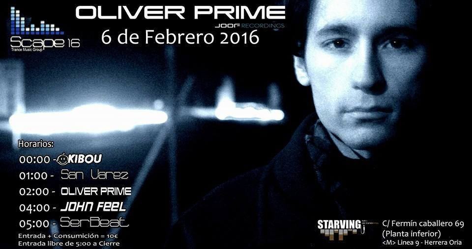 Scape apuesta por trance puro con Oliver Prime en Madrid