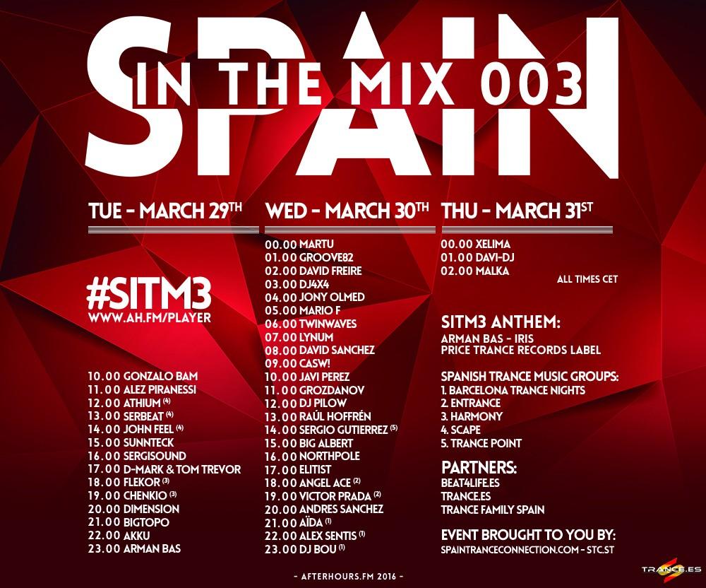 Spain in the Mix 003: Afterhours.FM reune a la escena trancera española