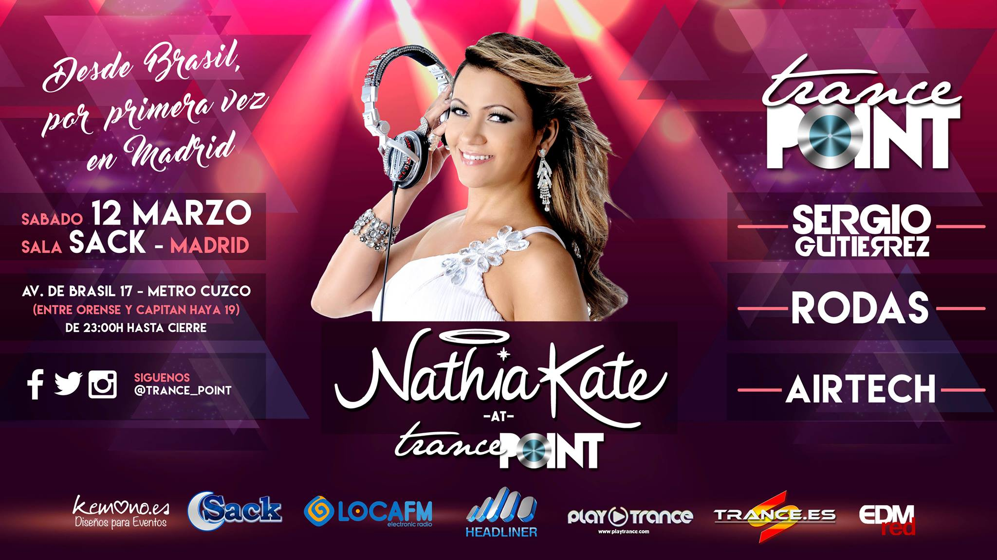 Trance Point trae a Nathia Kate a Madrid