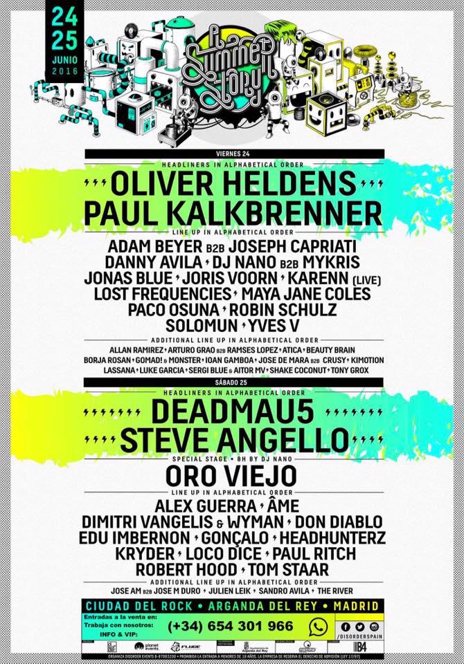 A Summer Story 2016: Deadmau5 y Oro Viejo los días 24 y 25 de junio (Madrid)