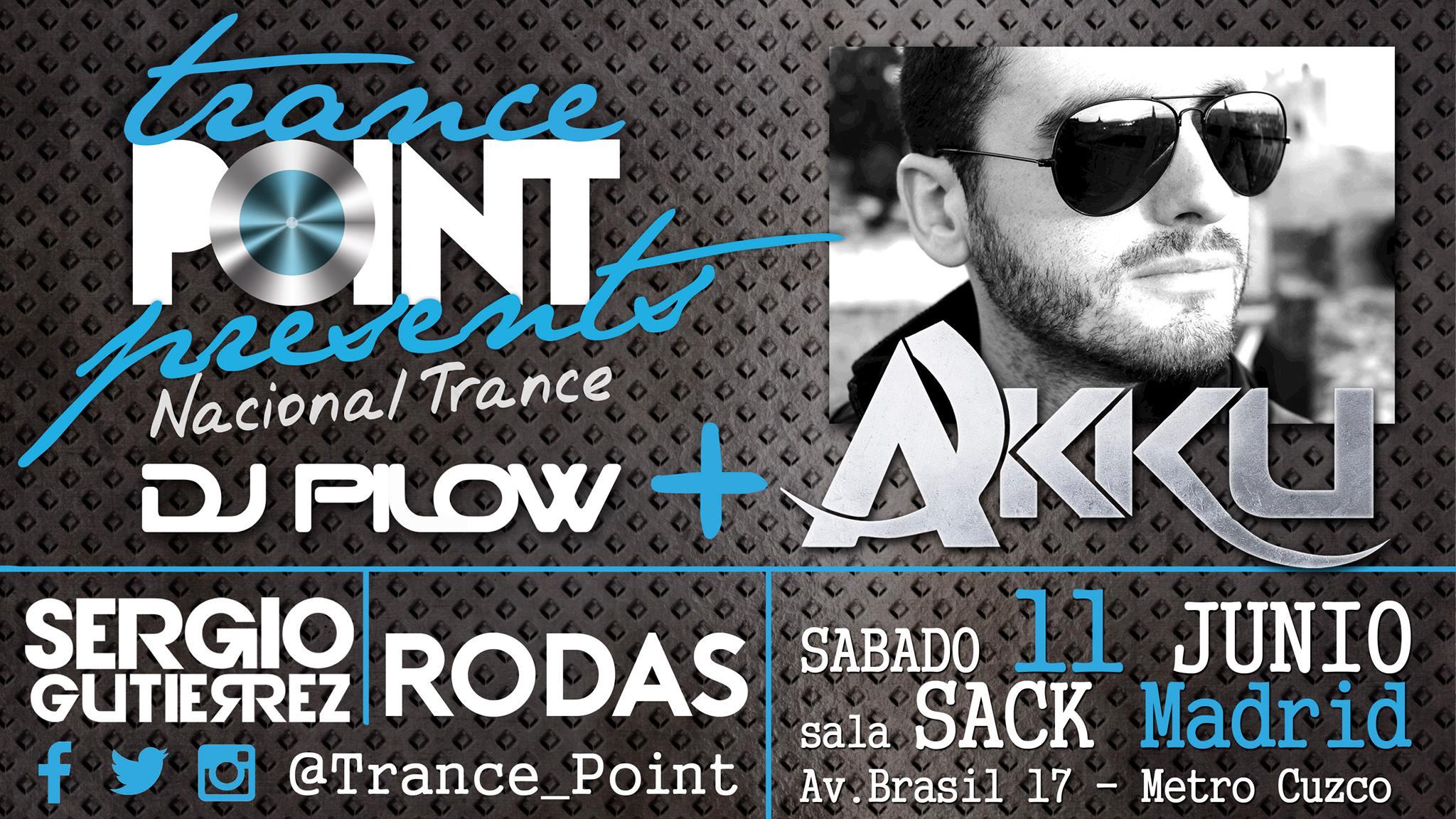 11 de junio: Sonido Trance Nacional en Trance Point con Akku y Dj Pilow