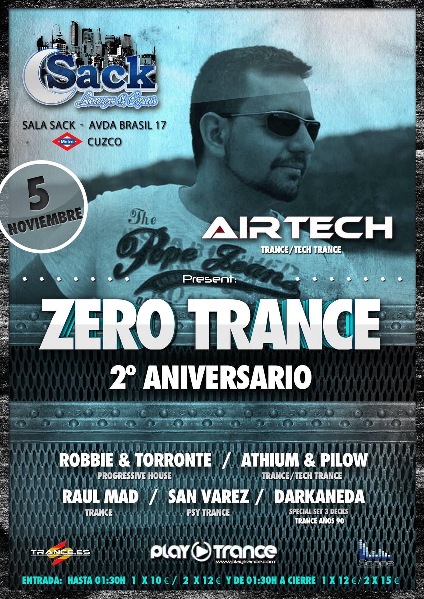 Trance 100% nacional en la fiesta Zero Trance 150 programas