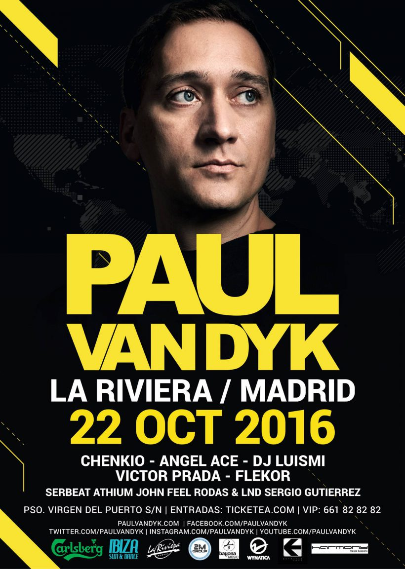 22 oct 2016 Paul van Dyk Madrid