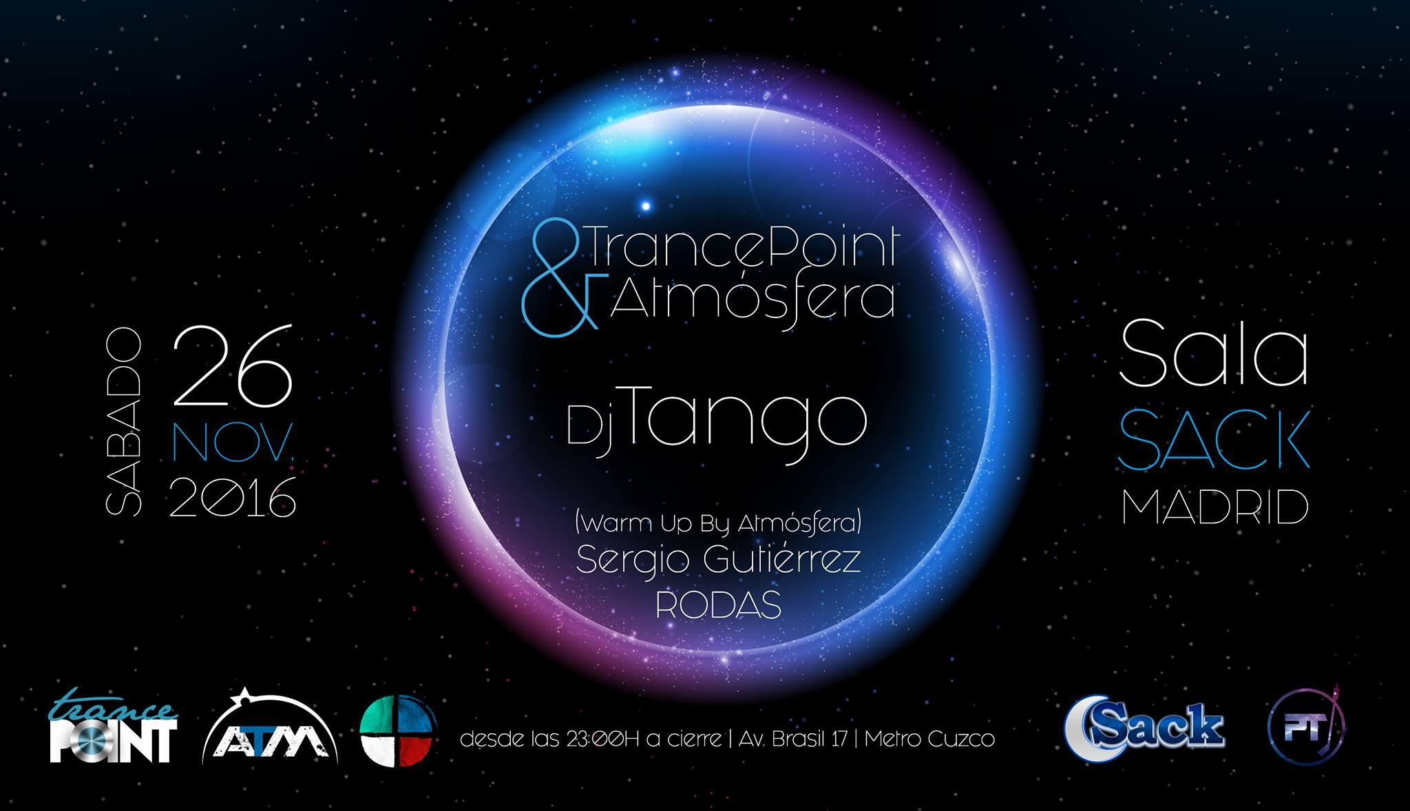 26 de noviembre: Dj Tango en Trance Point