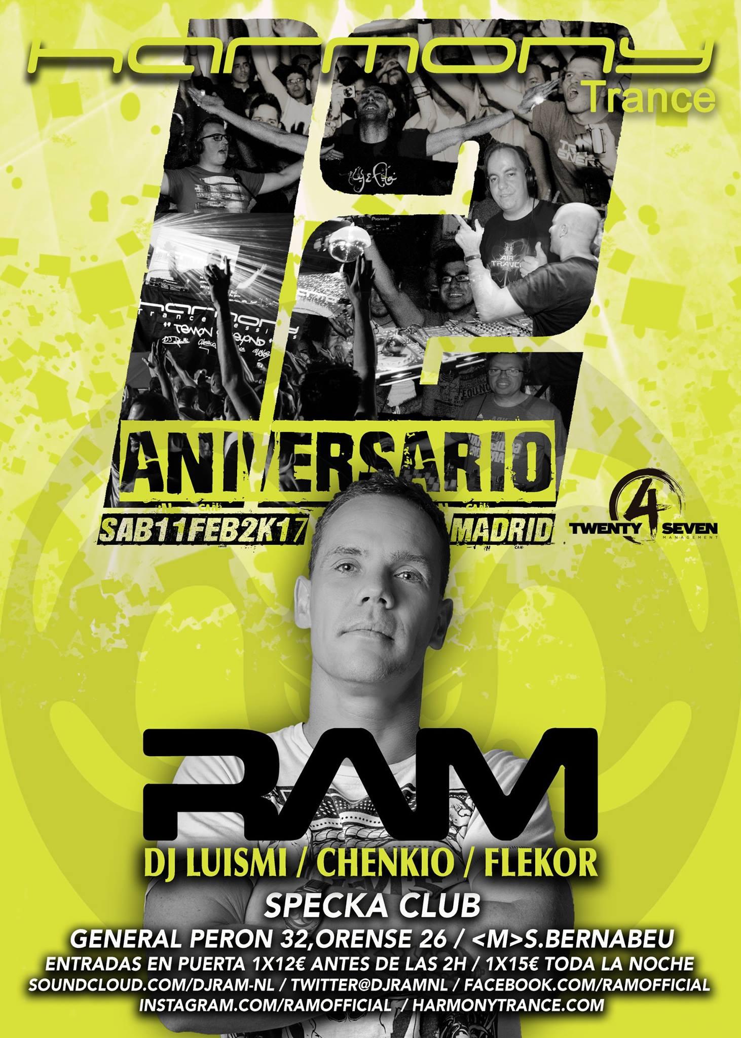 Harmony celebra sus 12 años como colectivo con RAM como invitado