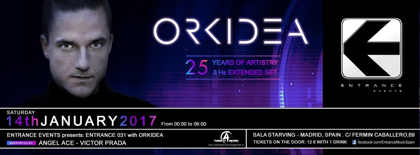 Entrance abre año con Orkidea como invitado en Madrid