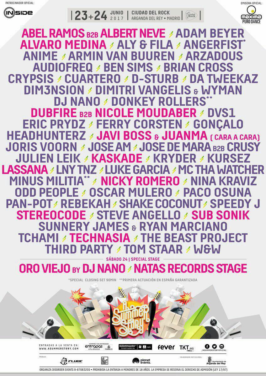 A Summer Story 2017: Aly & Fila, Armin van Buuren, Ferry Corsten, Dim3nsion y Oro Viejo los días 23 y 24 de junio (Madrid)