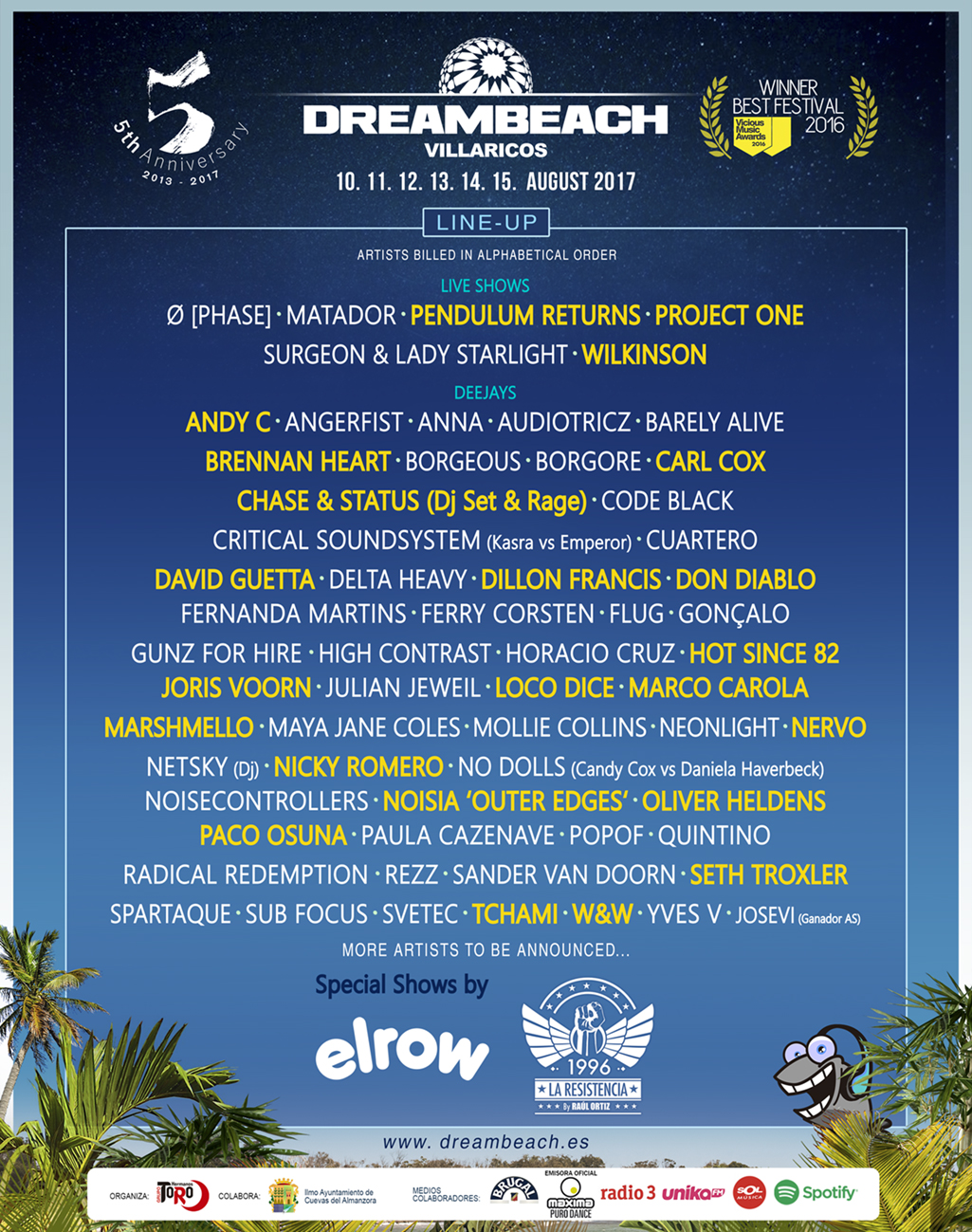Dreambeach 2017: Ferry Corsten, Vini Vici y La Resistencia del 10 al 15 de agosto (Almería)