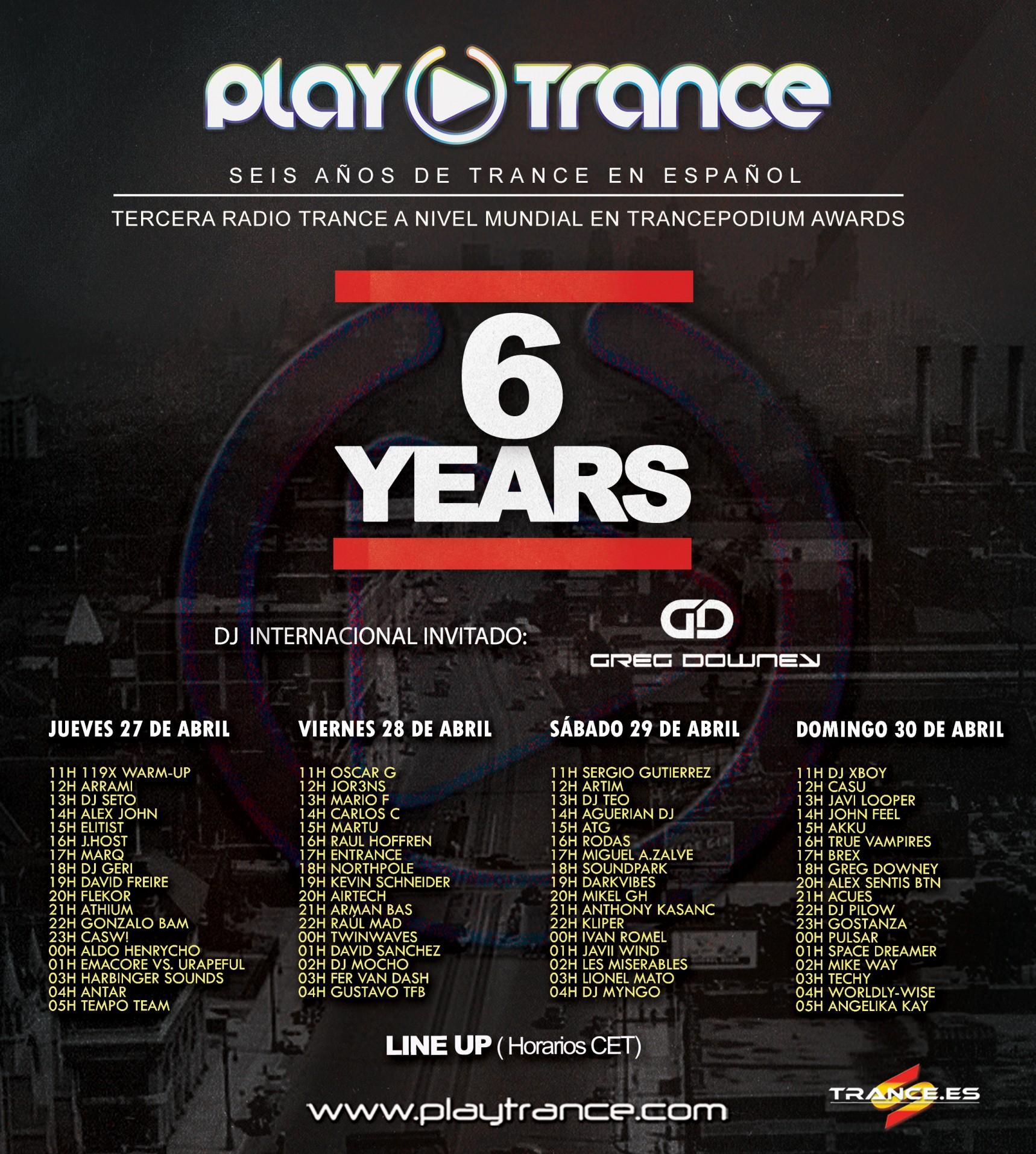 PlayTrance Radio cumple seis años