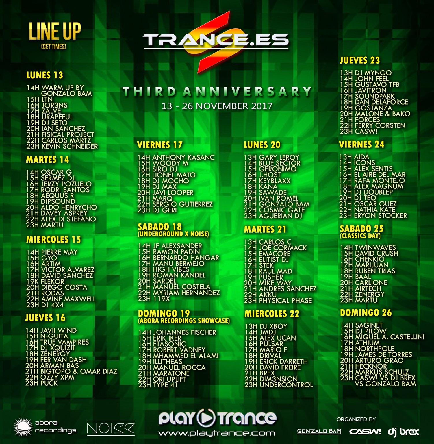 Tres años de Trance.es y de nuevo a lo grande