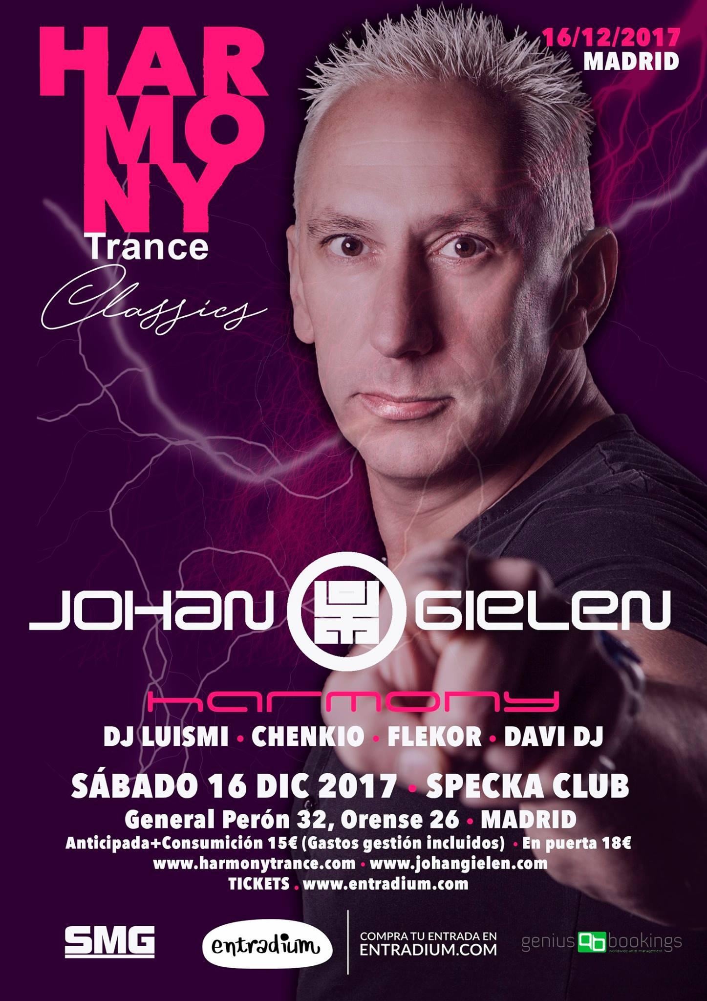 Noche de clásicos del trance con Johan Gielen