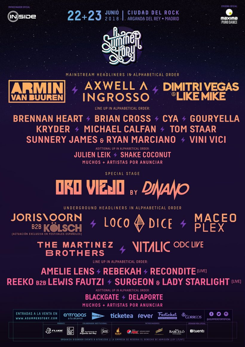 A Summer Story 2018 Line-Up