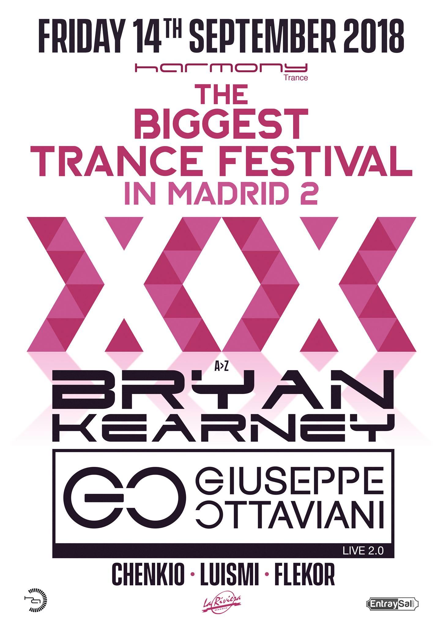 Nueva Harmony a lo grande: The Biggest Trance Festival 2 con Bryan Kearney y Giuseppe Ottaviani