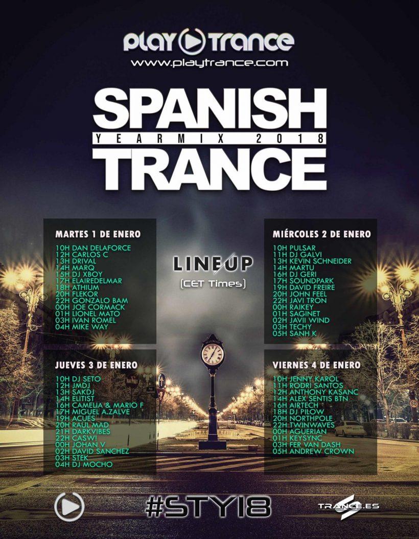 Spanish Trance Yearmix 2018 Line-Up